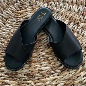 Franco Sarto Riviera Leather Sandal w/stud trim